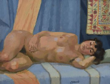 Ken Symonds Original Oil Painting Nude Portrait Of Isabel
